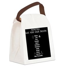 Asatru We Are Our Deeds Canvas Lunch Bag