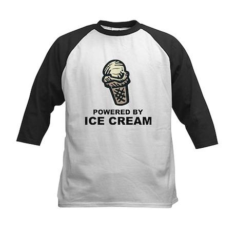 Powered By Ice Cream Kids Baseball Jersey