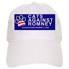 Dogs Against Romney Cats Against Romney bumper Baseball Cap