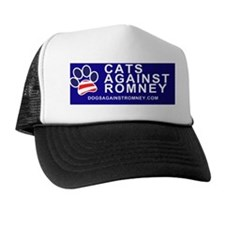 Dogs Against Romney Cats Against Romne Trucker Hat