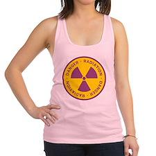 Radiation Warning Symbol Racerback Tank Top