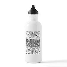 CT, initials, Water Bottle