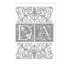 DA, initials, Postcards (Package of 8)