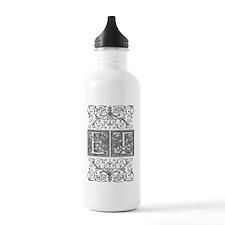 ET, initials, Water Bottle