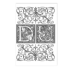 DU, initials, Postcards (Package of 8)