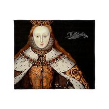 Elizabeth I Coronation Throw Blanket