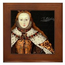 Elizabeth I Coronation Framed Tile