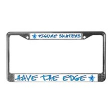 Figure Skaters Have The Edge License Plate Frame