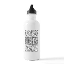 JB, initials, Water Bottle