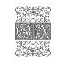 OA, initials, Postcards (Package of 8)
