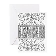 RI, initials, Greeting Card