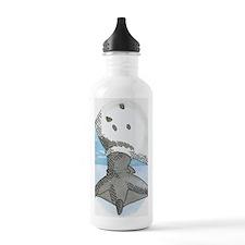 Illustration of pengui Water Bottle