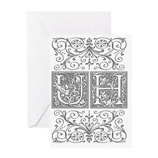 UH, initials, Greeting Card