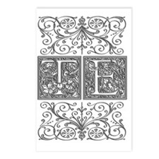 TE, initials, Postcards (Package of 8)