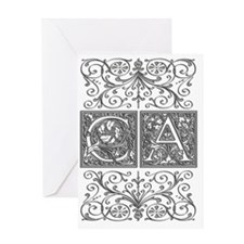 CA, initials, Greeting Card
