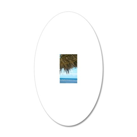La Guancha Beach 20x12 Oval Wall Decal