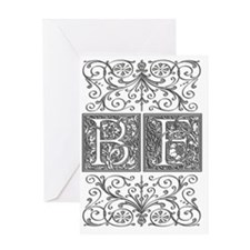 BF, initials, Greeting Card