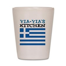 Yia-Yias Kitchen apron Shot Glass