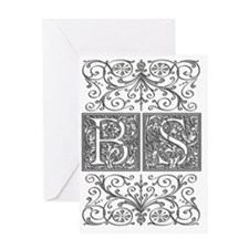 BS, initials, Greeting Card