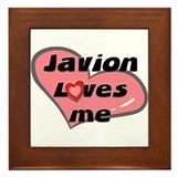 javion loves me  Framed Tile