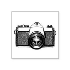"35mm Camera Square Sticker 3"" x 3"""