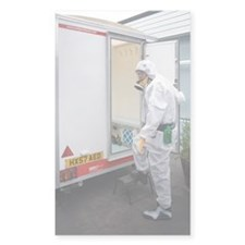 Asbestos removal Decal