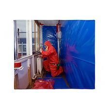 Asbestos removal Throw Blanket