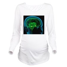 Amygdala in the brai Long Sleeve Maternity T-Shirt
