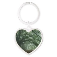 Ancient Beech woodland Heart Keychain