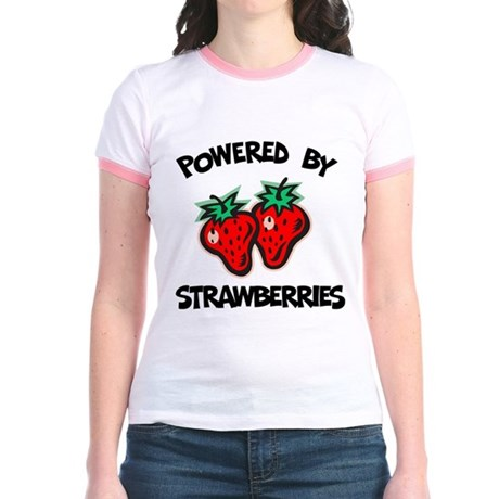 Powered By Strawberries Jr. Ringer T-Shirt