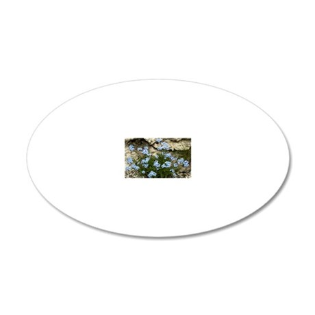 Alpine Forget-me-not (Myosot 20x12 Oval Wall Decal
