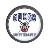 GUESS University Wall Clock