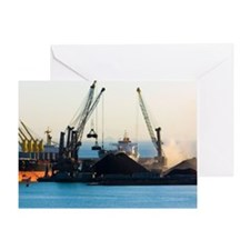 Bulk shipping cranes Greeting Card