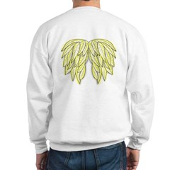 Gold Angel Wings on back Sweatshirt