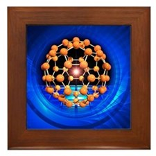 Buckminsterfullerene molecule Framed Tile