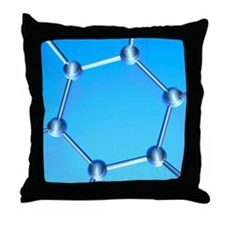 Buckminsterfullerene Throw Pillow