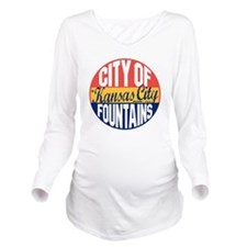 Kansas City Vintage Long Sleeve Maternity T-Shirt