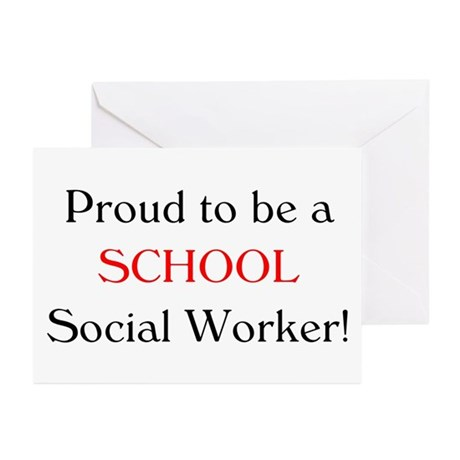Proud School SW Greeting Cards (Pk of 10)