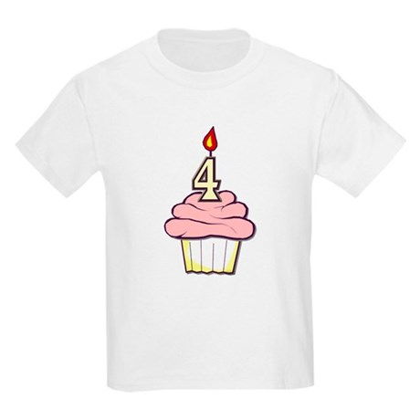 Girl Cupcake 4th Birthday Kids T-Shirt