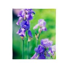 Bearded iris (Iris germanica) Throw Blanket