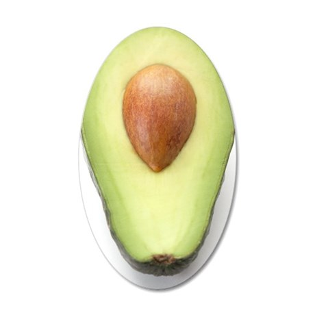 Avocado half 35x21 Oval Wall Decal