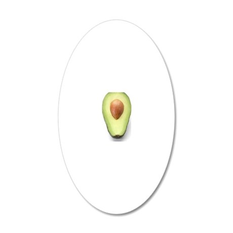 Avocado half 20x12 Oval Wall Decal