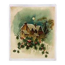 vintage christmas-graphics- Throw Blanket