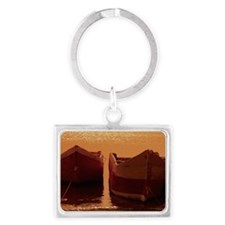 Rowboats tied up in Santa Marta Landscape Keychain