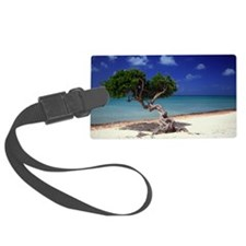 Divi Divi tree on beach of Carib Luggage Tag