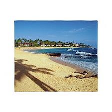Poipu Beach on Kauai, Hawaii, USA Throw Blanket