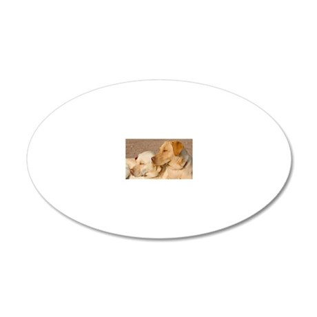 Resting Labs 20x12 Oval Wall Decal