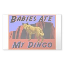 babies ate my dingo Rectangle Decal