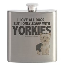 I Sleep with Yorkies Flask