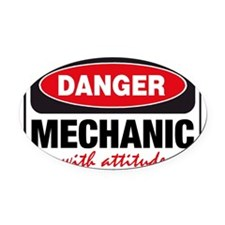 Mechanic with Attitude Oval Car Magnet